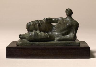 Henry Moore, 'Maquette for Reclining Figure (Maquette for Memorial Figure, Dartington Hall, 1945-6)', 1945