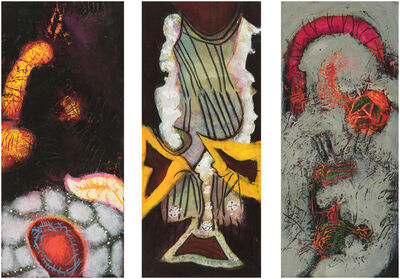 William Scharf, 'Planted Heart, Negligee of Snow, An Amulet for a da Vinci (From left to right)', 2005, 2004, 2002, 6 (From left to right)