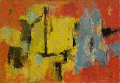 Alma Thomas, 'Yellow and Blue', 1959
