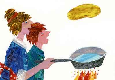 """Eric Carle, 'Illustration from """"Pancakes, Pancakes!""""', 1990"""