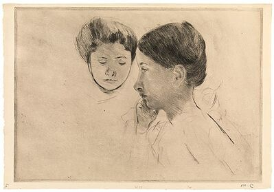 Mary Cassatt, 'Celeste and Marjorie', ca. 1898