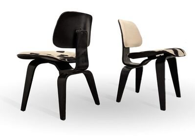 Charles and Ray Eames, 'Pair of DCW Chairs', 20th century