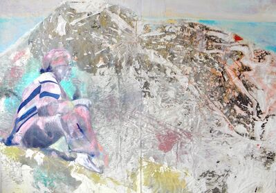 Simon Nelke, 'Die Hänge von Masada (Dyptichon)', 2018