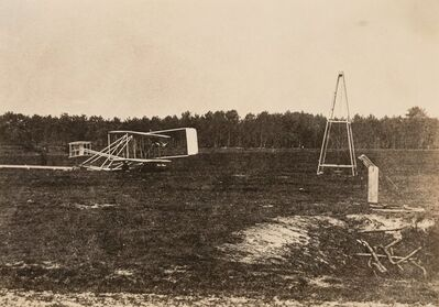 Unknown Artist, 'Wright Brothers Flyer Airplane and Catapult', circa 1905