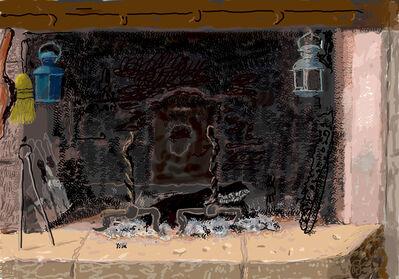 David Hockney, 'No fire', 2020