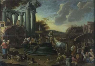 Dirk Helmbreker, 'Roman Landscape with Figures', ca. 1675