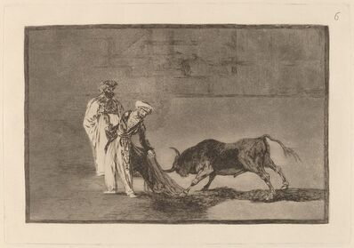 Francisco de Goya, 'Los Moros hacen otro capeo en plaza con su albornoz (The Moors Make a Different Play in the Ring Calling the Bull with Their Burnous)', in or before 1816