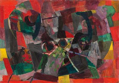Bruno Cassinari, 'Natura morta con pesche', 1957