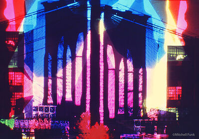 Mitchell Funk, 'Brooklyn Bridge Abstraction with Colored Gels ', 1969