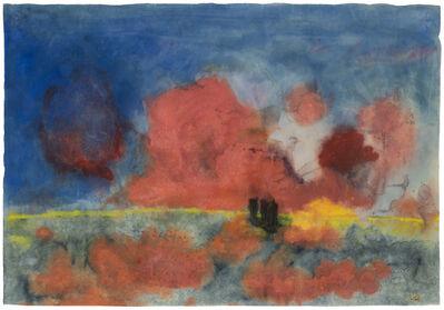Emil Nolde, 'Meer mit roten Wolken und dunklen Seglern (Sea with red clouds and dark sailing boats)', 1935