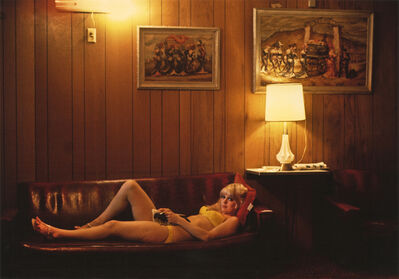 Marvin E. Newman, 'Woman Lying Down on Couch, Mustang Ranch, Reno, Nevada', 1971