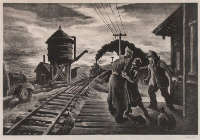 Thomas Hart Benton, 'Morning Train [Soldier's Farewell]', 1943