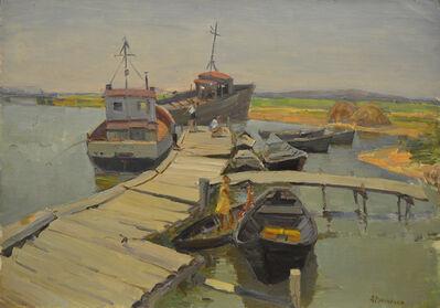 Aleksandr Nikiforovich Chervonenko, 'The bridge in the pier', ca. 1960