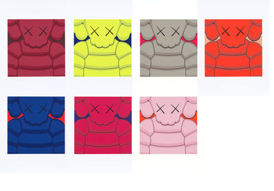 KAWS, 'What Party (Set of 7 Colored Print)', 2020