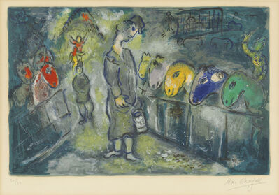 Marc Chagall, 'One Plate, from: Le Cirque', 1967