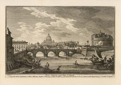 Giuseppe Vasi, 'Ponte Adriano oggi detto S. Angelo', 1747