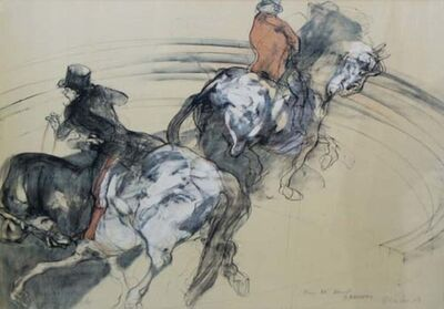 Claude Weisbuch, 'Two Horse Men (Dedicated to DB)', 1985