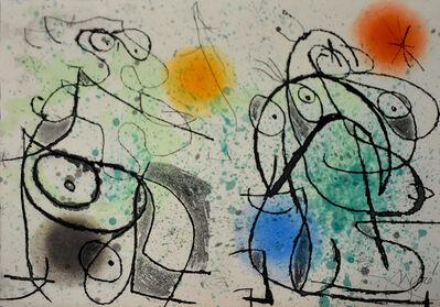 Joan Miró, 'Composition I, from: The Grotesque Courtier | Le courtisan grotesque', 1974