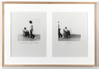 William Wegman, 'As a Joke...', 1971