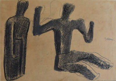 Mario Sironi, 'Two Figures | Due figure', 1940-1945