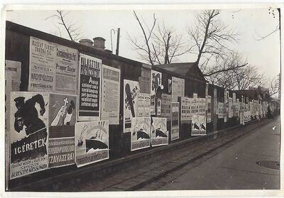 Imre Kinszki, 'Posters', 1930