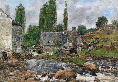 Eugène Boudin, 'Pont-Aven - La Rivière après la Pluie'