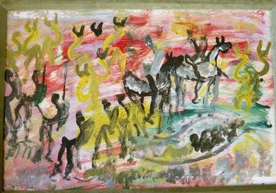 Purvis Young, 'Follow Him (Horses)', 1994