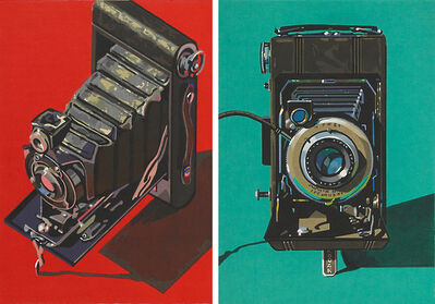 Robert Cottingham, 'Two Works of Art: Hawk Eye, Diomatic'