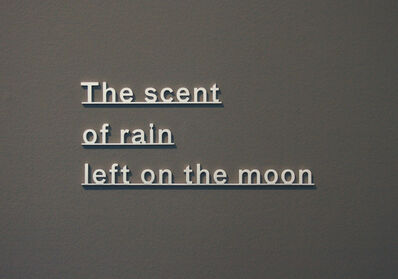 Katie Paterson, 'Ideas - (The scent of rain left on the moon)', 2018