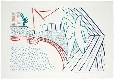 David Hockney, 'My Pool & Terrace (Artist Proof)', 1983