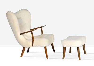 Ib Madsen, 'Pragh lounge chair and ottoman', circa 1950