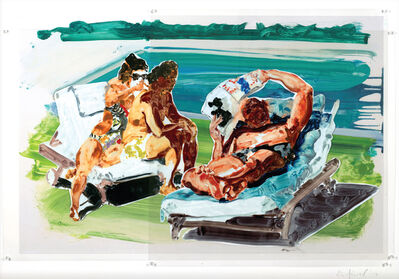 Eric Fischl, 'Untitled (Poolside Loungers)', 2017