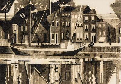 Edith Mary Lawrence, 'Canal, Middleburg, Zeeland', circa 1932