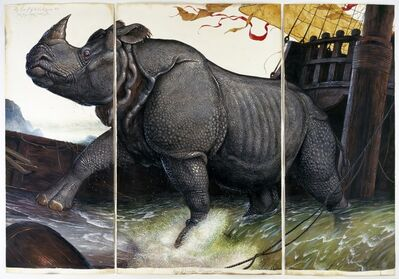 Walton Ford, 'Loss of the Lisbon Rhinoceros', 2008