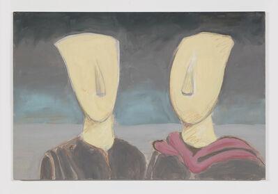 William Leavitt, 'Cycladic Figures (after de Chirico)', 2016
