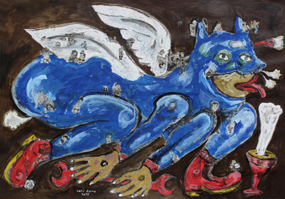 Heri Dono, 'Superhero and Incense', 2015