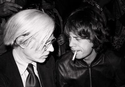Lynn Goldsmith, 'Andy Warhol Mick Jagger ', 1977