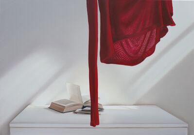 Edite Grinberga, 'Offenes Buch  mit Rot', 2018
