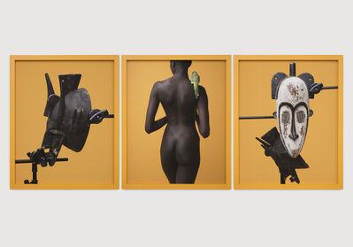 Awol Erizku, 'Study of the body and two masks', 2018