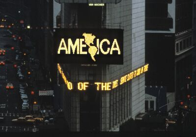 Alfredo Jaar, 'Times Square, April 1987: A Logo for America', 1987