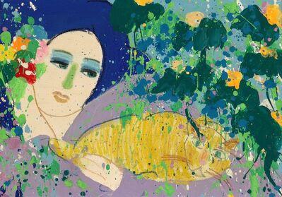 Walasse Ting 丁雄泉, 'Do You Like My Cat?', 1979