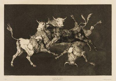 Francisco de Goya, 'Al Toro y al Aire Darles Calle (Lluvia de Toros), from 'Los Proverbios'', circa 1824