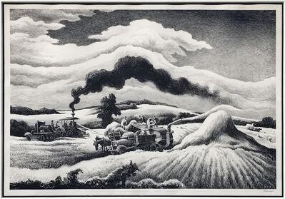 Thomas Hart Benton, 'Threshing', 1941