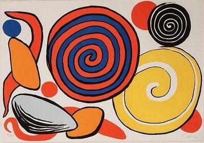 Alexander Calder, 'Red and Blue Spirals', 1970