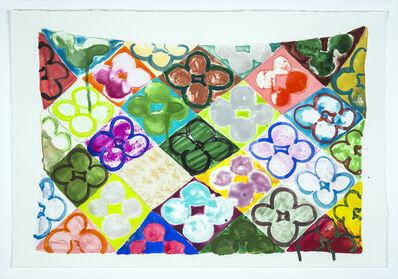 Judy Ledgerwood, 'Field Of Flowers/Garden', 2020