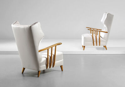 Ico Parisi, 'Pair of 'Bergère' armchairs', circa 1950
