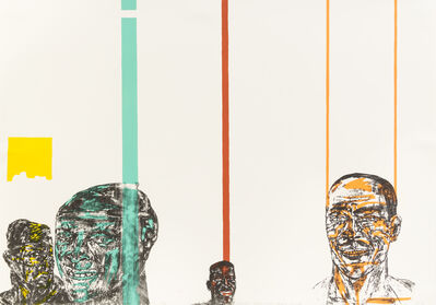 Leon Golub, 'Facings: Black Men - Black Women'