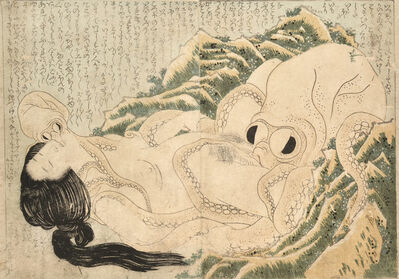 Katsushika Hokusai, 'The Dream of the Fisherman's Wife (Female Diver and Octopuses)', 1814
