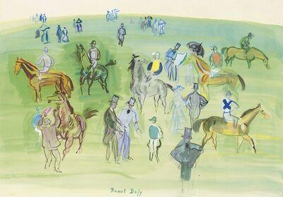Raoul Dufy, 'Cheveaux et Jockeys sur la Pelouse', 1933