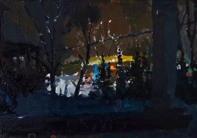 Susanna Coffey, 'Milton Gas Station from Brown Joint Portico, 1/24/19', 2019